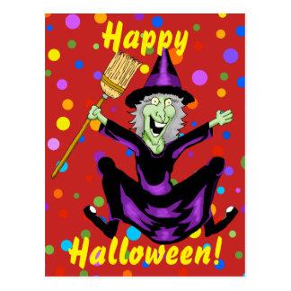 Happy Witch Halloween Postcard