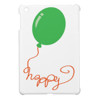 Happy with a green balloon case for the iPad mini