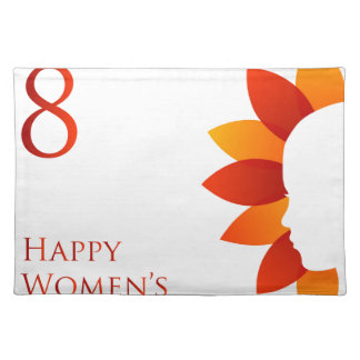Happy womens day march 8 place mat