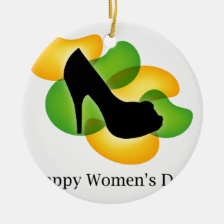 Happy womens day march 8 round ceramic decoration