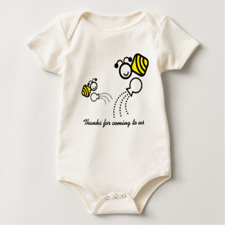 happy work bees baby bodysuit