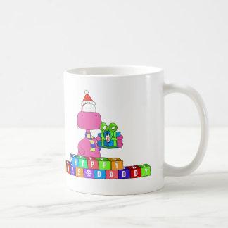 happy xmas daddy basic white mug