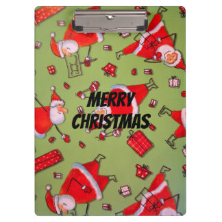 Happy Xmas Santa Clipboard