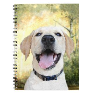 Happy Yellow Lab Notebook