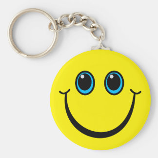 Happy Yellow Smiley Face Key Ring