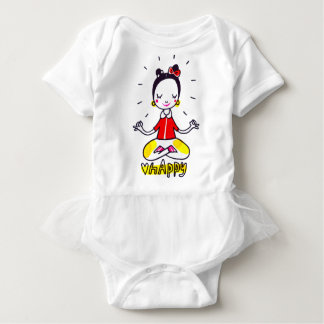 happy yoga holiday SUIT Baby Bodysuit