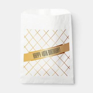 Happy (your age) Birthday   Favor Bag