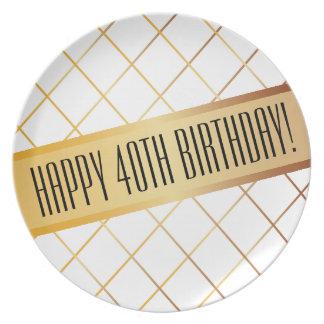 Happy (your age) Birthday | Melamine Plate