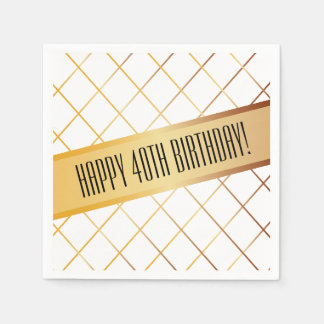 Happy (your age) Birthday | Paper Napkin