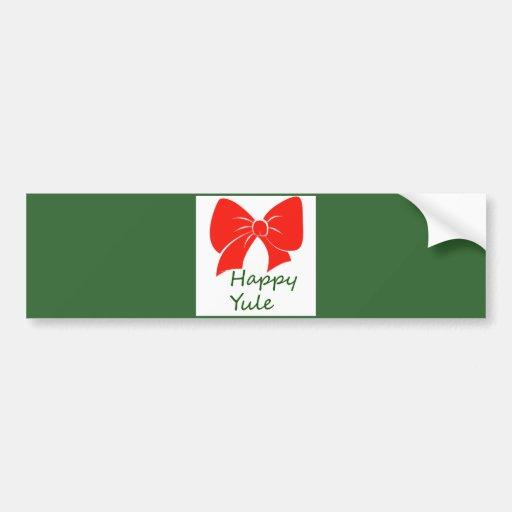 Happy Yule Bumper Stickers