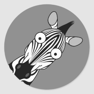HAPPY ZEBRA STICKER