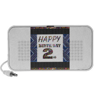 HappyBirthday 2nd Text Notebook Speakers