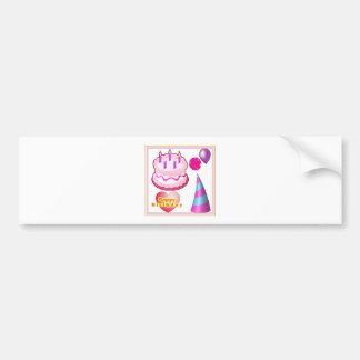 HappyBIRTHDAY Cake Balloon Decorations Car Bumper Sticker