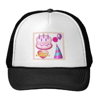 HappyBIRTHDAY Cake Balloon Decorations Trucker Hat