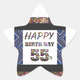 happybirthday happy birthday greeting 55 55th star sticker