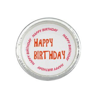 happyBIRTHDAY HAPPY birthday Pink Circle Round