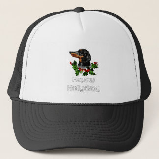 Happyhollydax Christmas Dachshund Holidays Trucker Hat