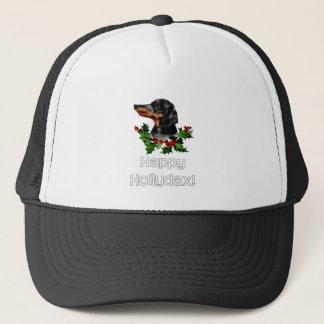 Happyhollydax Christmas Dachshund Holidays Trucker Hat