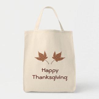 HappyThanksgiving Fall Leaves Bag