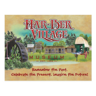 Har-Ber Village post card 15r