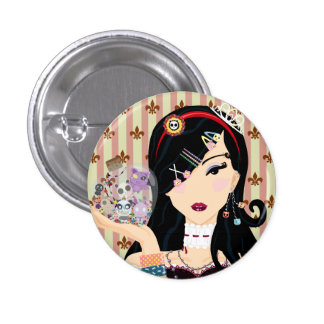 Harajuku Girl Mayumi 3 Cm Round Badge