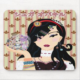 Harajuku Girl Mayumi - Katakana Mouse Pads