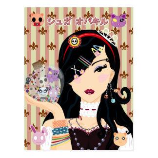 Harajuku Girl Mayumi with Sugar Overkill Friends Postcard
