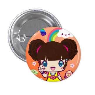 Harajuku Girl Yuriko 3 Cm Round Badge