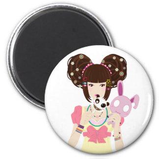 Harajuku Girl Yuriko Fridge Magnet