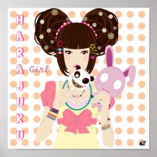 Harajuku Girl Yuriko Poster