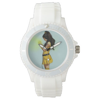 Harajuku Yellow Dress Girl Wristwatch