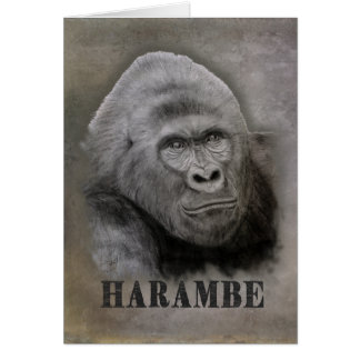 Harambe (Graphite Drawing) Card