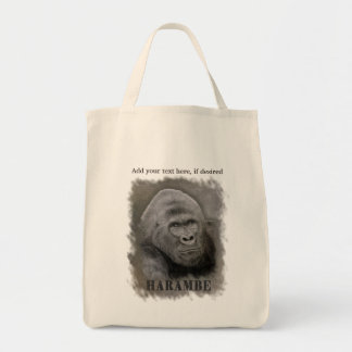 Harambe (Graphite Drawing) Tote Bag