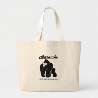 HARAMBE REST IN PEACE T-SHIRT LARGE TOTE BAG