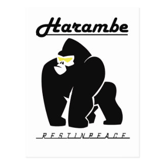 HARAMBE REST IN PEACE T-SHIRT POSTCARD