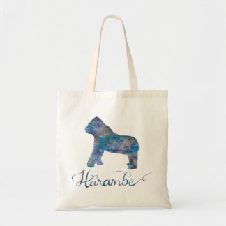 Harambe Watercolor Tote Bag