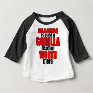 harambe worth gorilla legend harambeisjustagorilla baby T-Shirt