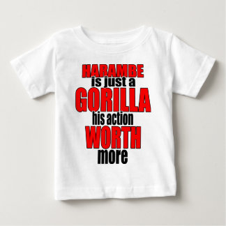 harambe worth gorilla legend harambeisjustagorilla baby T-Shirt