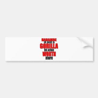 harambe worth gorilla legend harambeisjustagorilla bumper sticker
