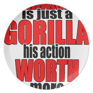 harambe worth gorilla legend harambeisjustagorilla dinner plates