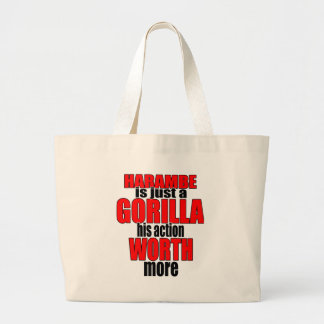harambe worth gorilla legend harambeisjustagorilla large tote bag