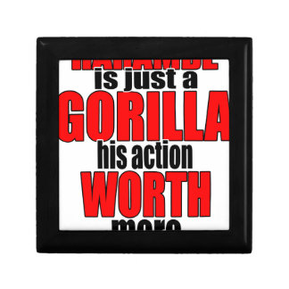 harambe worth gorilla legend harambeisjustagorilla small square gift box