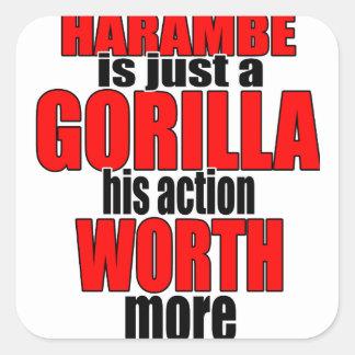 harambe worth gorilla legend harambeisjustagorilla square sticker