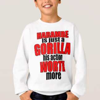 harambe worth gorilla legend harambeisjustagorilla sweatshirt