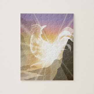 Harbinger of Light - Sunrise Rooster Jigsaw Puzzle