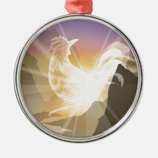 Harbinger of Light - Sunrise Rooster Metal Ornament