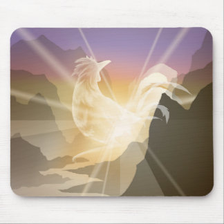 Harbinger of Light - Sunrise Rooster Mouse Pad