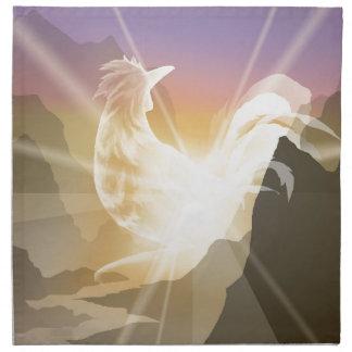 Harbinger of Light - Sunrise Rooster Napkin