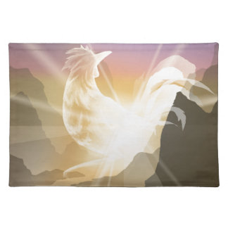 Harbinger of Light - Sunrise Rooster Placemat
