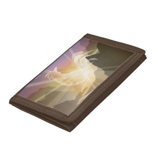 Harbinger of Light - Sunrise Rooster Tri-fold Wallet